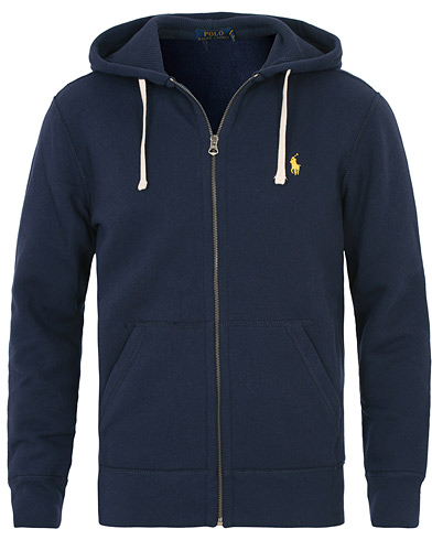 Polo Ralph Lauren Full Zip Hood Cruise Navy i gruppen Kläder / Tröjor / Huvtröjor hos Care of Carl (10507711r)