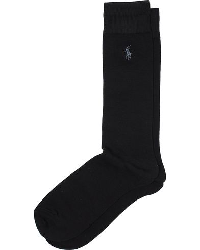 Polo Ralph Lauren Flat Knit Dress Sock Black  i gruppen Design A / Undertøj / Strømper / Almindelige sokker hos Care of Carl (10508510)