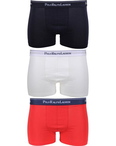 Polo Ralph Lauren 3-Pack Trunk White/Red/Blue i gruppen Undertøj / Boxershorts hos Care of Carl (10509311r)