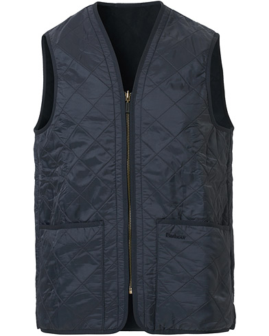 Barbour Lifestyle Quilt Waistcoat / Zip-In Liner Navy i gruppen Design A / Jakker / Yderveste hos Care of Carl (10509911r)