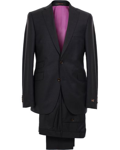 Morris Paul Suit Solid Dark Grey i gruppen Kostymer hos Care of Carl (10510711r)