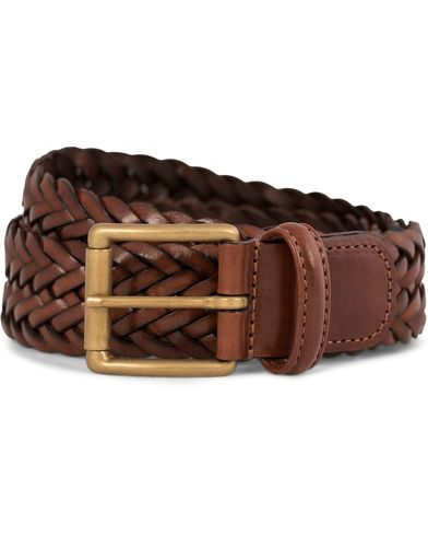 Anderson's Leather Belt 3,5 cm Brown i gruppen Assesoarer / Belter / Flettede belter hos Care of Carl (10513211r)