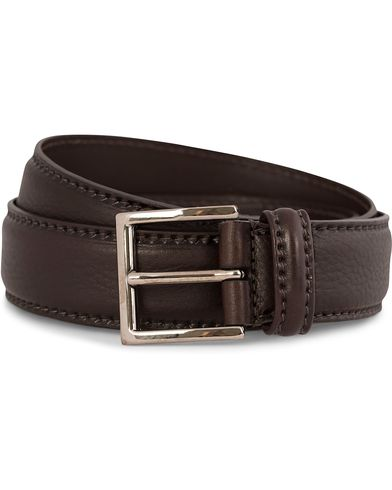 Anderson's Plain Leather Belt 3,5 cm Brown i gruppen Tilbehør / Bælter / Blanke bælter hos Care of Carl (10513411r)