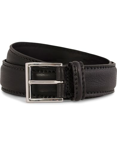 Anderson's Plain Leather Belt 3,5 cm Black i gruppen Assesoarer / Belter hos Care of Carl (10513511r)