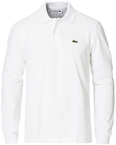 Lacoste Long Sleeve Piké White i gruppen Design A / Pikéer / Langermet piké hos Care of Carl (10513911r)