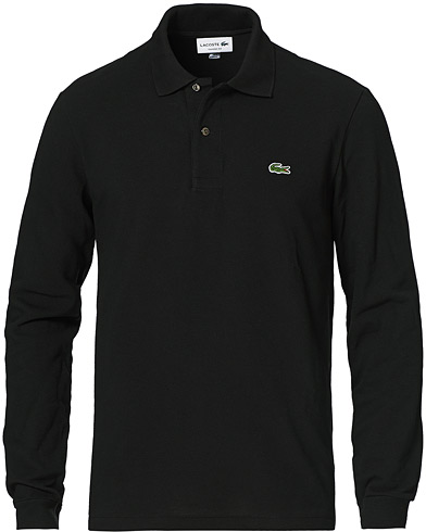 Lacoste Long Sleeve Piké Black i gruppen Pikéer / Langermet piké hos Care of Carl (10514011r)