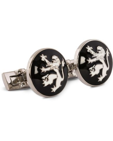 Skultuna Cuff Links The Lion Silver/Black/White  i gruppen Tilbehør / Manchetknapper hos Care of Carl (10528510)