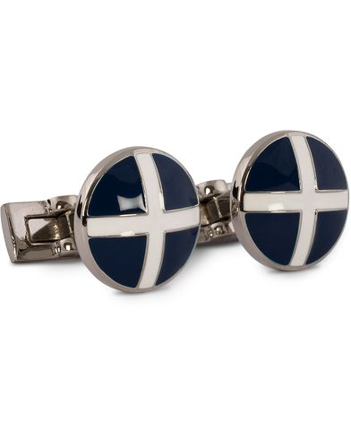 Skultuna Cuff Links St Andrews Silver/Blue/White  i gruppen Tilbehør / Manchetknapper hos Care of Carl (10528810)