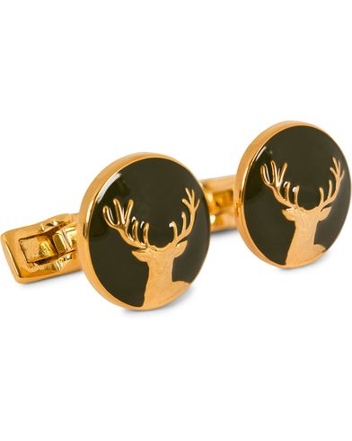 Skultuna Cuff Links Hunter Dear Gold/Green  i gruppen Accessoarer / Manschettknappar hos Care of Carl (10531010)