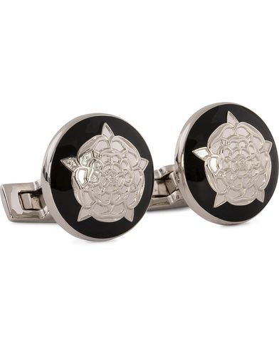 Skultuna Cuff Links The Tudor Rose Silver/Baroque i gruppen Assesoarer / Mansjettknapper hos Care of Carl (10531610)