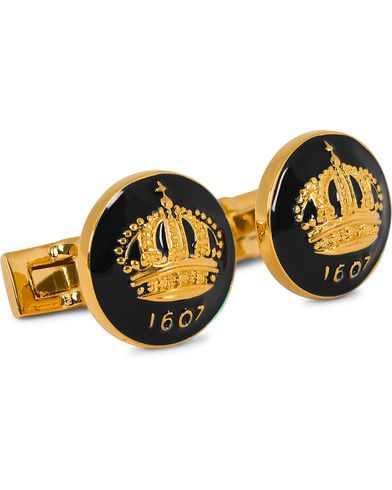 Skultuna Cuff Links The Crown Gold/Baroque Black  i gruppen Accessoarer / Manschettknappar hos Care of Carl (10531910)