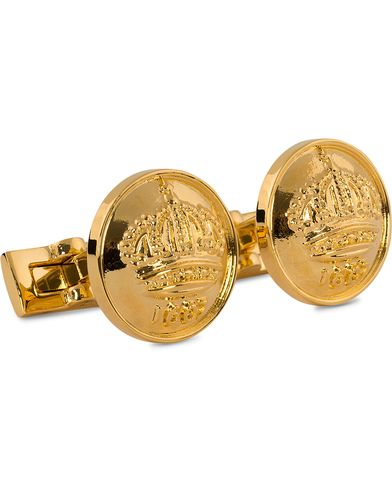 Skultuna Cuff Links The Crown Gold/Glossy Gold  i gruppen Assesoarer / Mansjettknapper hos Care of Carl (10532110)