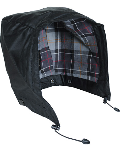 Barbour Lifestyle Waxed Cotton Hood Black  i gruppen Jakker / Tilbehør til jakker hos Care of Carl (10534310)