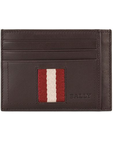 BALLY Torin.T Credit Card Holder Chocolate  i gruppen Accessoarer / Plånböcker / Korthållare hos Care of Carl (10617110)