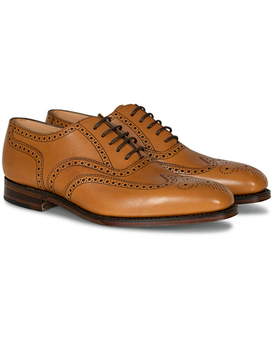 Loake 1880 Buckingham Brogue Tan Burnished Calf i gruppen Sko / Brogues hos Care of Carl (10629511r)