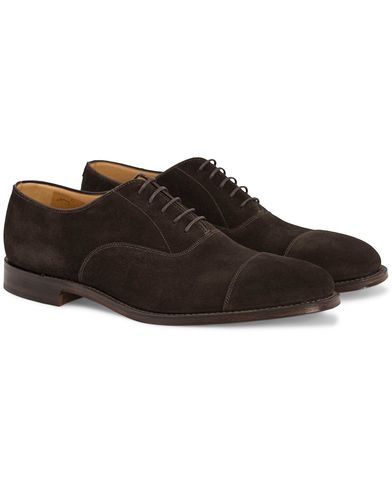 Loake 1880 Aldwych Oxford Dark Brown Suede i gruppen Skor / Oxfords hos Care of Carl (10629711r)