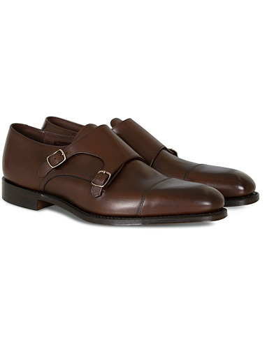 Loake 1880 Cannon Monkstrap Dark Brown Burnished Calf i gruppen Sko hos Care of Carl (10630011r)