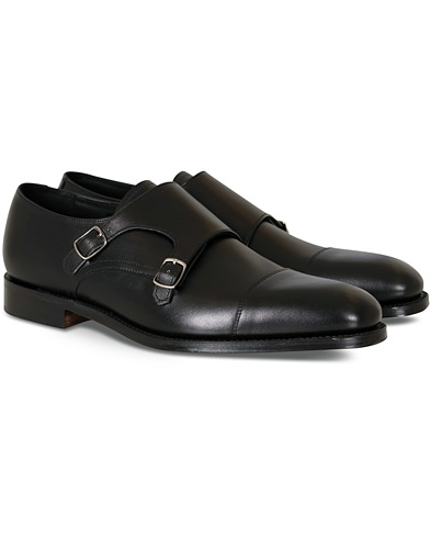 Loake 1880 Cannon Monkstrap Black Calf i gruppen Sko / Munkesko hos Care of Carl (10630111r)