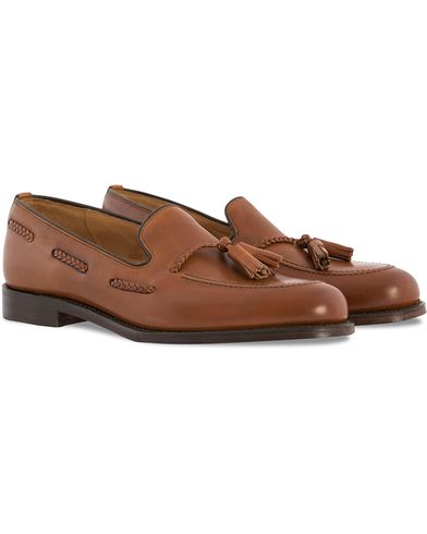 Loake 1880 Temple Loafer Brown Burnished Calf i gruppen Sko / Loafers hos Care of Carl (10631011r)