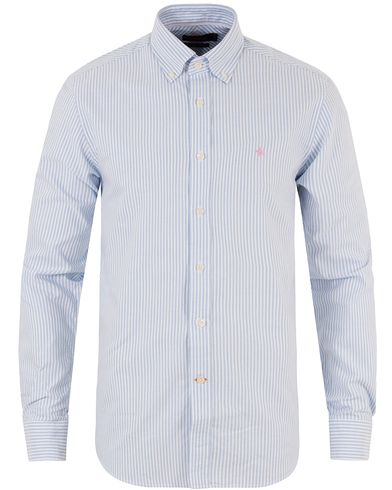 Morris Oxford Stripe Shirt Light Blue i gruppen Tøj / Skjorter / Oxfordskjorter hos Care of Carl (10642411r)