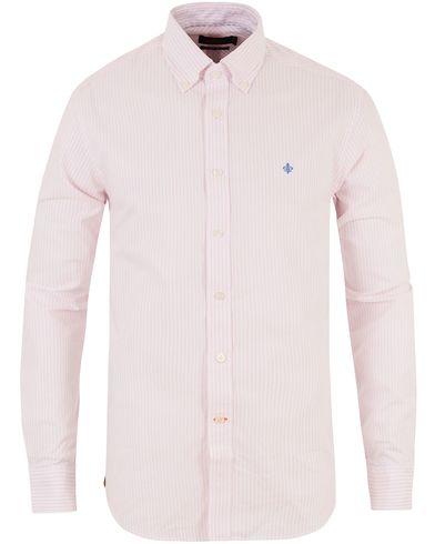 Morris Oxford Stripe Shirt Pink i gruppen Kläder / Skjortor / Oxfordskjortor hos Care of Carl (10642511r)