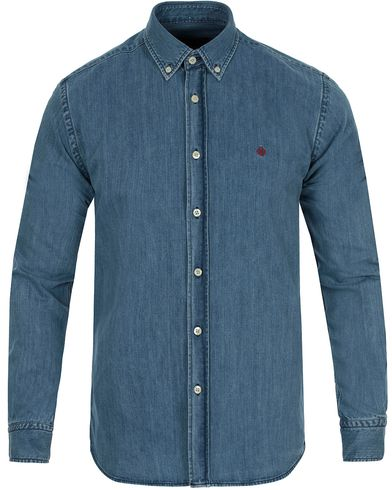 Morris Cary Grant Denim Shirt Light Blue i gruppen Tøj / Skjorter / Denimskjorter hos Care of Carl (10642611r)