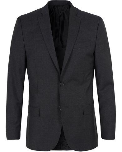 J.Lindeberg Hopper Dressed Wool Grey Melange i gruppen Tøj / Blazere & jakker / Enkeltradede blazere hos Care of Carl (10697411r)