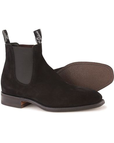 R.M.Williams Blaxland G Boot Suede Black i gruppen Sko / Støvler / Chelsea boots hos Care of Carl (10716411r)