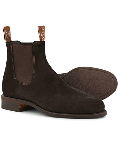 R.M.Williams Wentworth G Boot Suede Brown i gruppen Design A / Sko / Støvler / Chelsea boots hos Care of Carl (10716511r)
