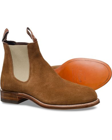 R.M.Williams Turnout G Boot Suede Mid Brown i gruppen Skor / K�ngor / Chelsea boots hos Care of Carl (10716711r)