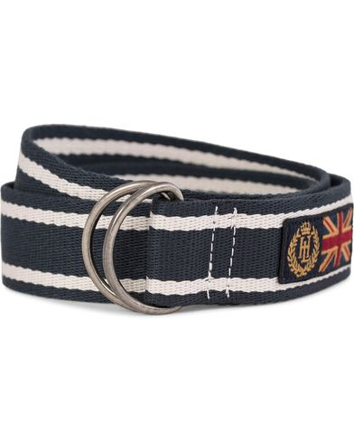Henri Lloyd Canvas Belt 4 cm Navy/Surf  i gruppen Tilbehør / Bælter / Flettede bælter hos Care of Carl (10727210)