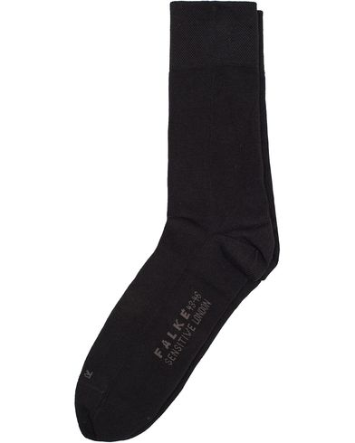Falke Sensitive Socks London Black i gruppen Undertøj / Strømper / Almindelige sokker hos Care of Carl (10746411r)