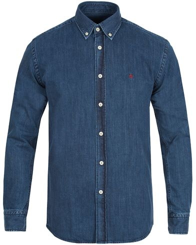 Morris Cary Grant Denim Shirt Navy i gruppen Skjortor / Jeansskjortor hos Care of Carl (10781611r)