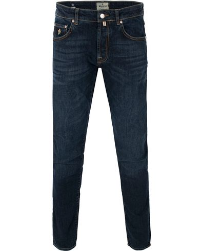 Morris Steve Jeans Dark Stone i gruppen Jeans / Slim fit jeans hos Care of Carl (10781711r)