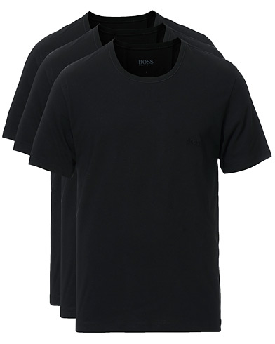 BOSS 3-Pack Crew Neck T-Shirt Black i gruppen Klær / T-Shirts / Kortermede t-shirts hos Care of Carl (10786111r)