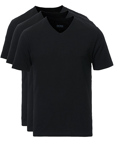 BOSS 3-Pack V-Neck T-Shirt Black i gruppen Kläder / T-Shirts / Kortärmade t-shirts hos Care of Carl (10786311r)