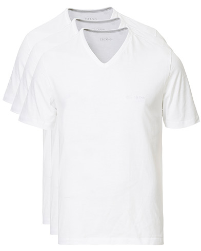 BOSS 3-Pack V-Neck T-Shirt White i gruppen Design A / T-Shirts / Kortermede t-shirts hos Care of Carl (10786411r)