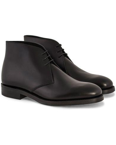 Loake 1880 Kempton Chukka Boot Black Calf i gruppen Sko / Støvler / Chukka boots hos Care of Carl (10789211r)