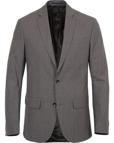 Filippa K Tom Cool Wool Jacket Grey Melange i gruppen Blazere & Jakker / Enkeltradede blazere hos Care of Carl (10793911r)