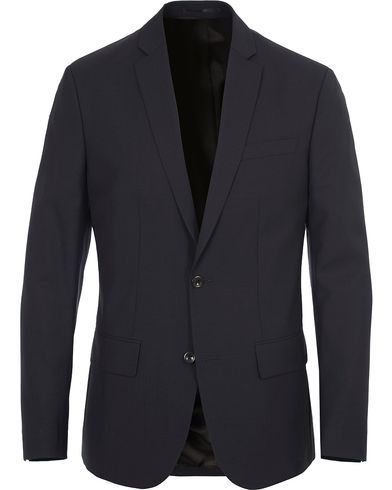Filippa K Tom Cool Wool Jacket Dark Navy i gruppen Kläder / Kavajer / Enkelknäppta kavajer hos Care of Carl (10794011r)