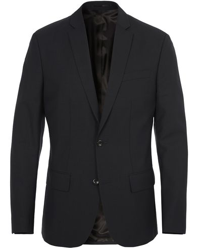 Filippa K Tom Cool Wool Jacket Black i gruppen Kavajer / Enkelknäppta kavajer hos Care of Carl (10794111r)