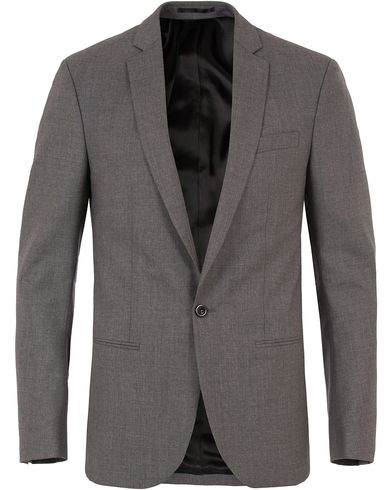 Filippa K M. Christian Cool Wool Jacket Grey Melange i gruppen Blazere & Jakker / Enkeltradede blazere hos Care of Carl (10794511r)