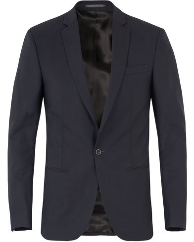 Filippa K M. Christian Cool Wool Jacket Dark Navy i gruppen Design A / Blazere & Jakker / Enkeltradede blazere hos Care of Carl (10794611r)