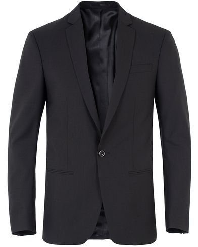 Filippa K M. Christian Cool Wool Jacket Black i gruppen Dressjakker / Enkeltspente dressjakker hos Care of Carl (10794711r)