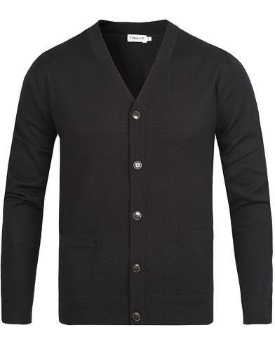 Filippa K Fine Merino V-Neck Cardigan Black i gruppen Design A / Gensere / Cardigans hos Care of Carl (10795011r)
