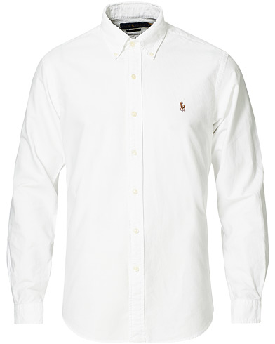 Polo Ralph Lauren Core Fit Shirt Oxford White i gruppen Tøj / Skjorter / Oxfordskjorter hos Care of Carl (10797111r)
