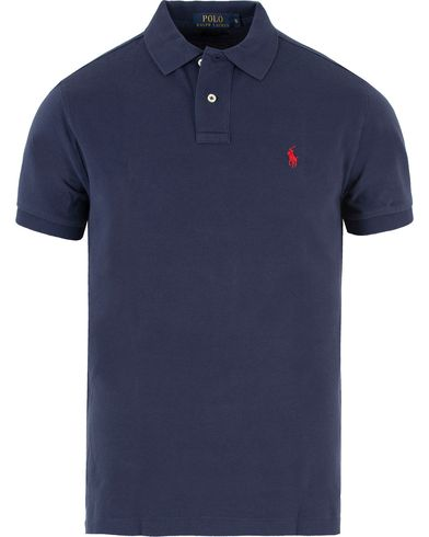 Polo Ralph Lauren Custom Fit Polo Newport Navy i gruppen Polotrøjer / Kortærmede polotrøjer hos Care of Carl (10797211r)