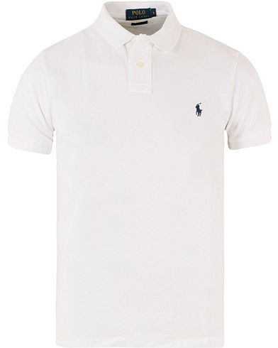 Polo Ralph Lauren Custom Fit Polo White i gruppen Pikéer / Kortärmade pikéer hos Care of Carl (10797411r)