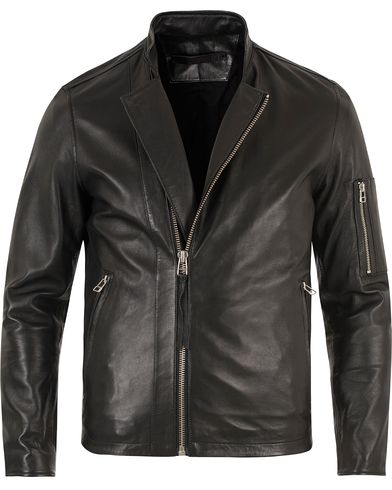 Tiger of Sweden Jeans Rikki Leather Jacket Black i gruppen Jackor / Skinnjackor hos Care of Carl (10879511r)