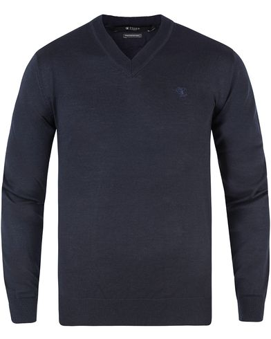 Tiger of Sweden Harvard V-Neck Pullover Navy i gruppen Kläder / Tröjor / Pullovers / V-ringade pullovers hos Care of Carl (10881111r)